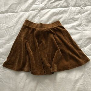 Topshop brown suede circle skirt 🍂🍁